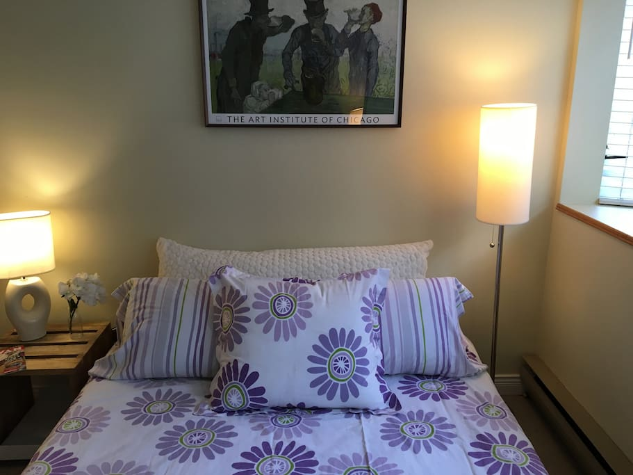 Comfortable, firm double bed