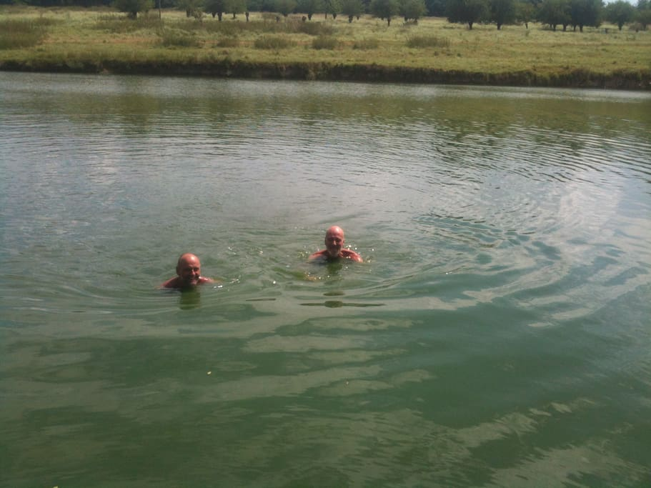 cooling dip in the lakes