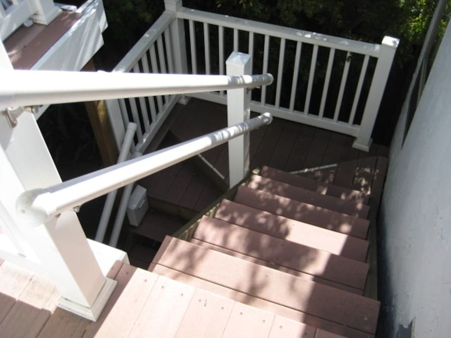 External stairs to upstairs unit