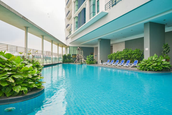 Condominium Swimming Pool 1  -Professional photograph snapped in October 2018. All rights reserved.