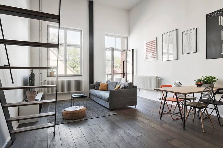 Amazing loft apartment close to Sofo/Södermlam - Nacka - Lägenhet