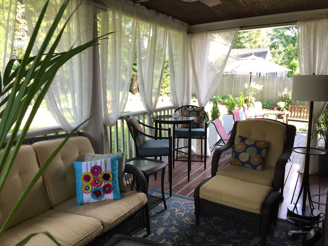 Outdoor porch to relax