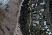 Arial view of beach access