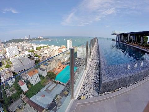 45A2# ONE BEDROOM Pattaya city,beach,bars,sea food