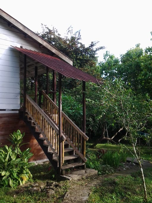 Guests have their own veranda upstairs with view of the river and bird watching