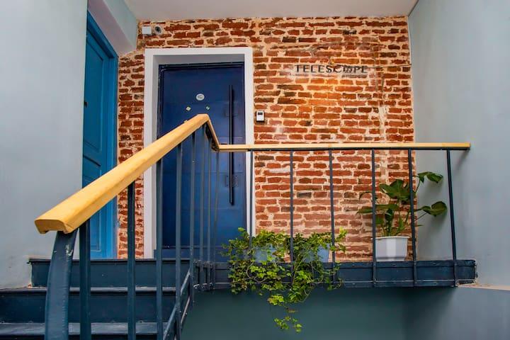 Telescope apart hotel cozy entrance