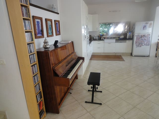 Spacious house 15mins from beach. Perfect for kids - Tzur Moshe - Talo