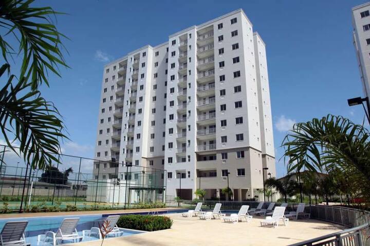 Apartamento em condom fechado c/ piscina e WIFI!