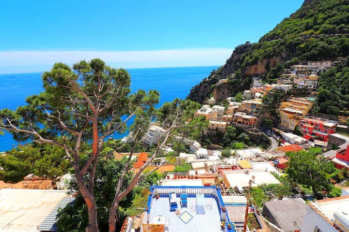 Amazing apartment with a terrace view of Positano