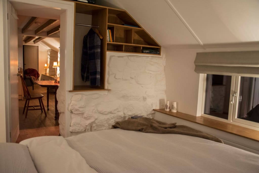 Double bedroom overlooking Glendale, Loch Pooltiel and the Outer Isles