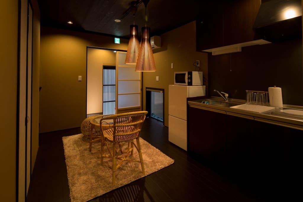 厨房+客厅 kitchen キッチン