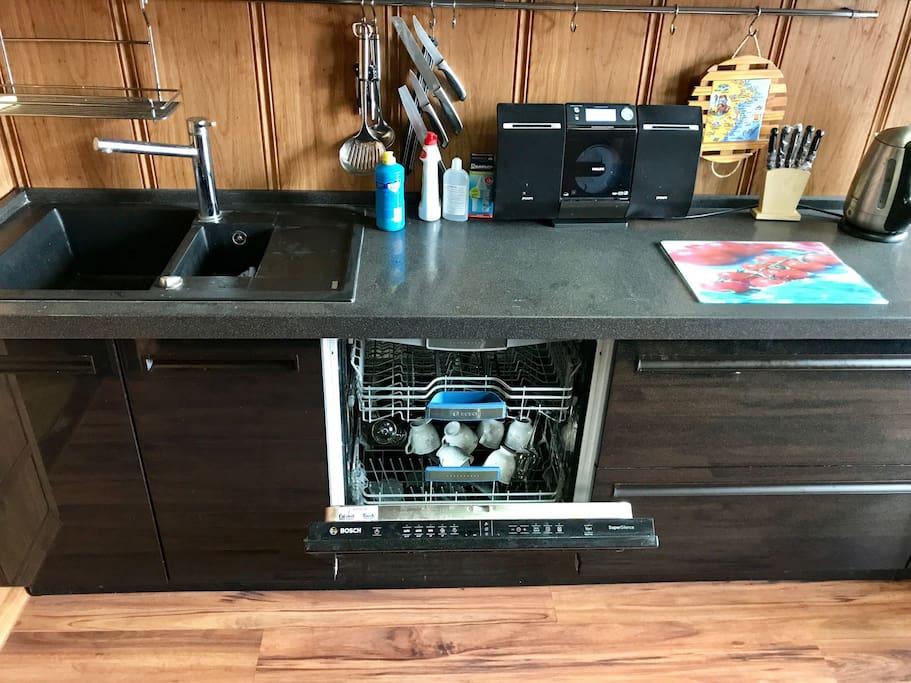 Kitchen - Bosch dish-washer Кухня - посудомоечная машина Bosch