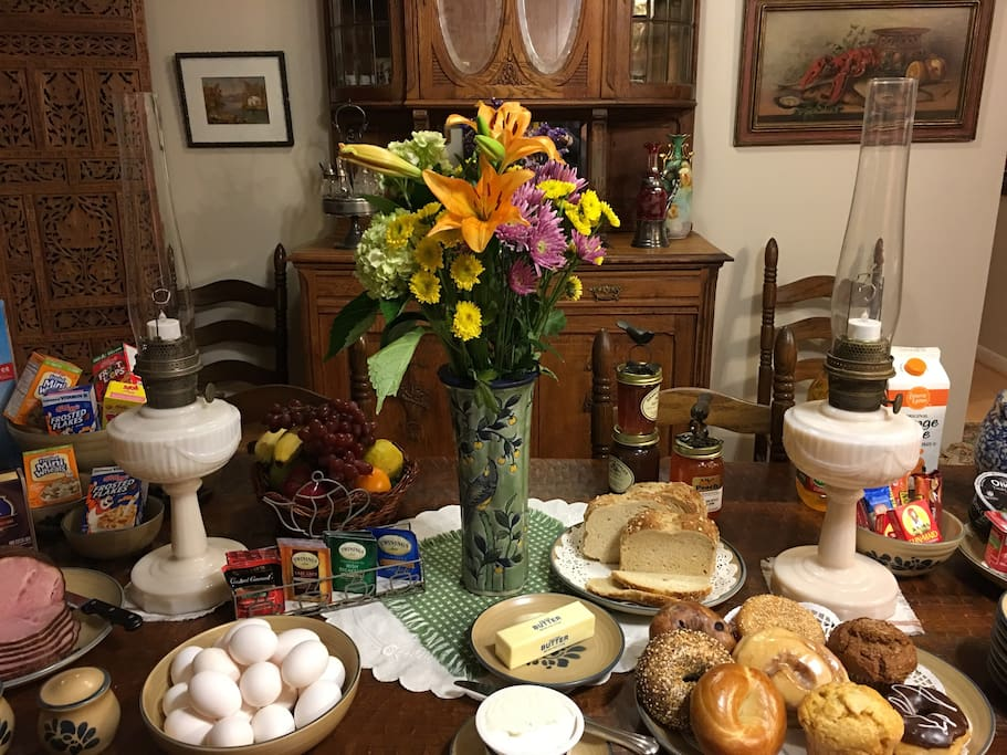 Farm to table buffet breakfast