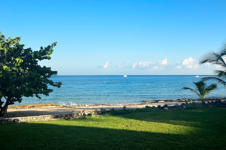 Beachfront,  beautiful 4 Br, 4.5 bath  villa