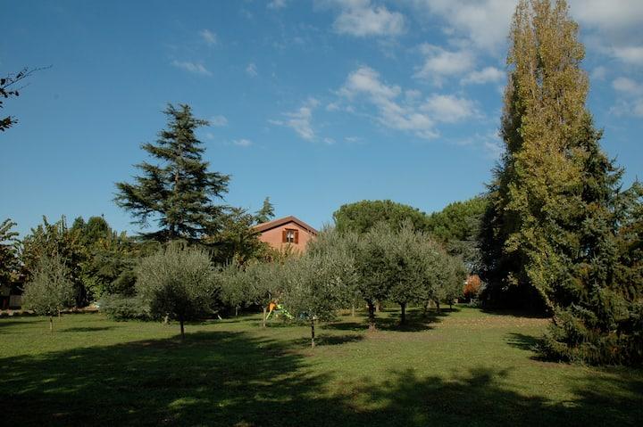 A Villa near the Lake of Castel Gandolfo