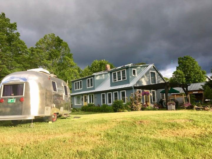 Rural retreat guest room in Vermont