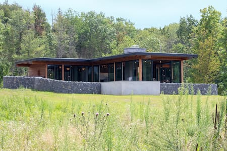 Hudson Pool House-Modern meets Rustic