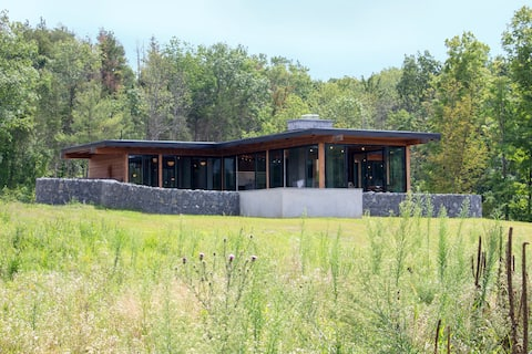 Hudson Pool House - Modern Meets Rustic