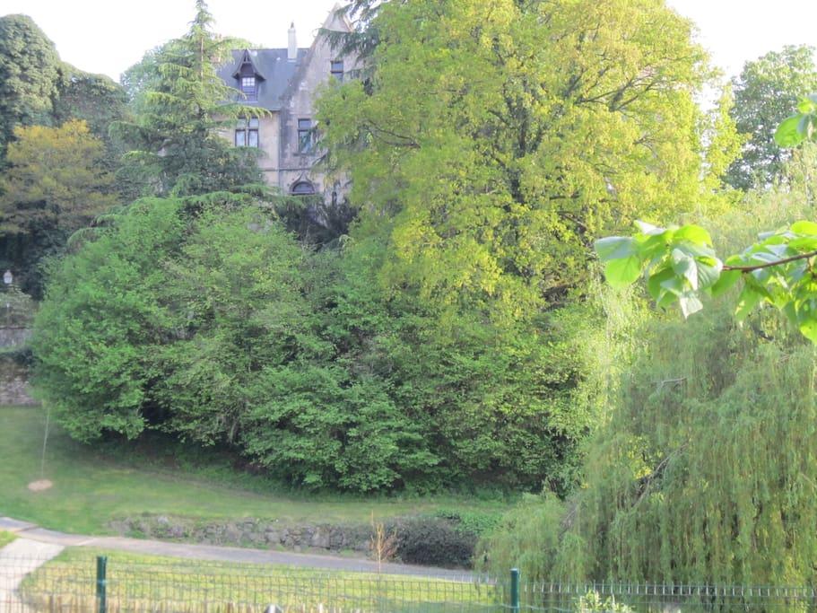 le château que l'on voit depuis le balcon, paysage classé