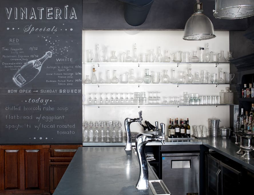 Vinateria A favorite restaurant blocks away