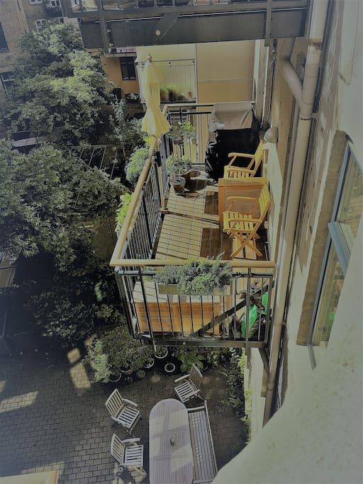 Balcony from above