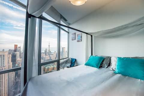 Romantische ruimte met prachtig uitzicht op het centrum