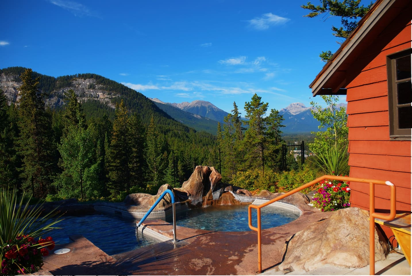You'll love the SHARED outdoor hot pools!