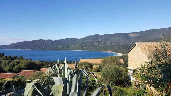 Mini-Villa T2, piscine, 5 mn plages, Corse du Sud