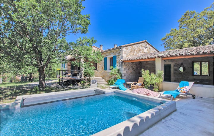 Beautiful home in La Roche St Secret with WiFi, Outdoor swimming pool and 3 Bedrooms