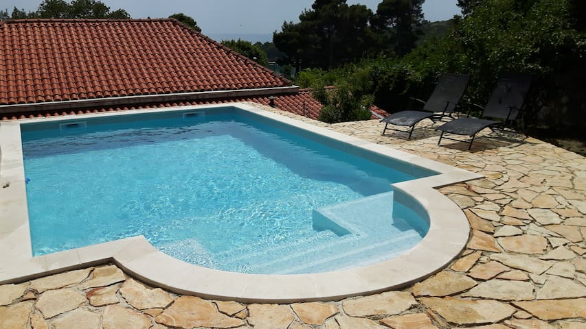 Pool ap. with natural shady terrace near Dubrovnik - Mlini - Byt