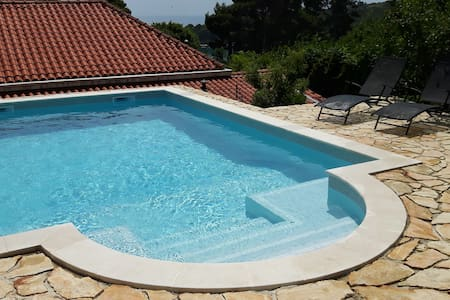 Pool ap. with natural shade terrace near Dubrovnik - Mlini