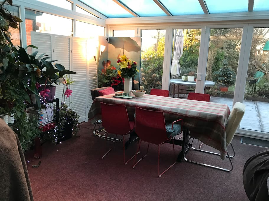 The conservatory dining area
