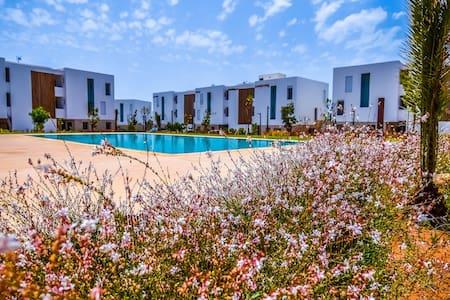 TaghazoutBay Beach Retreat with pool next to beach