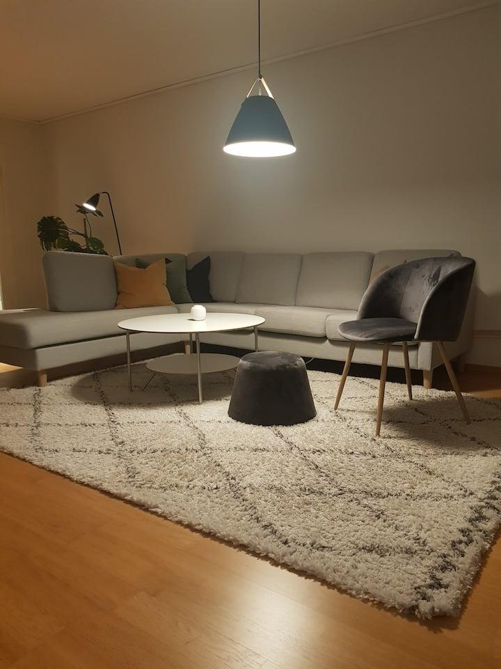 Kjekk leilighet med utsikt