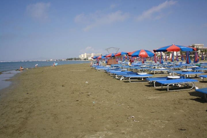 organized beach, open to the public infont of the Hotel's