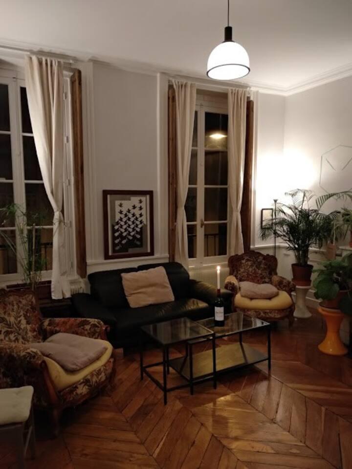 """Grand appartement style """"Canut"""" idéalement situé."""