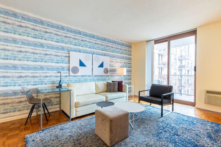Upscale Hoboken 1 Bedroom with NYC Views