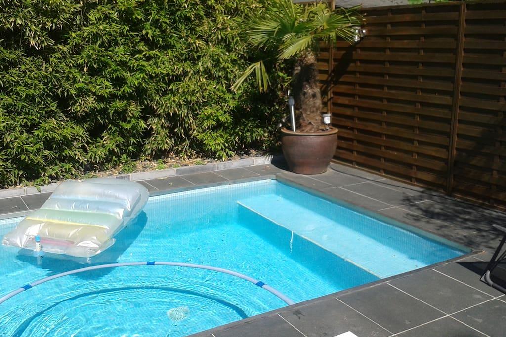 La piscine-jacuzzi