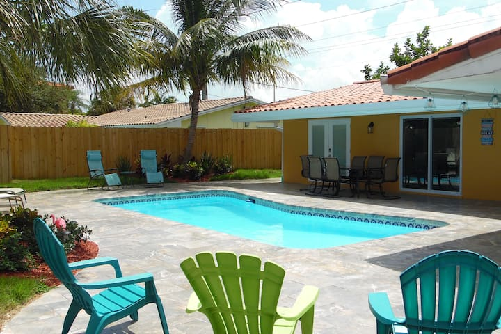 3/2 Private Home w/POOL! Two miles to the BEACH!