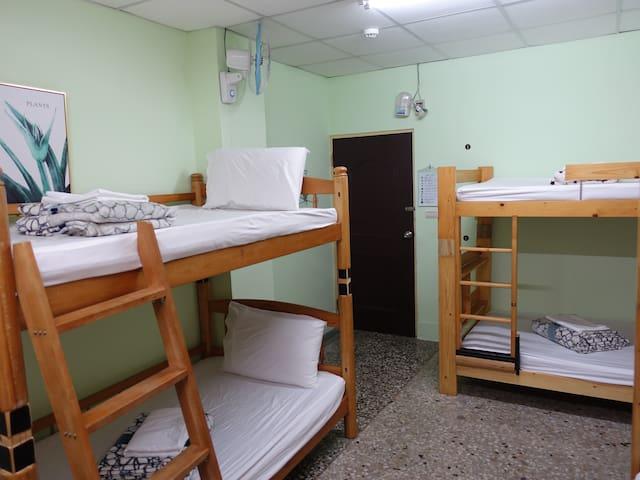 風箏旅人青年旅舍-男女床位房(4或8人一間,共用衛浴)  近火車站和夜市,阿里山一日遊