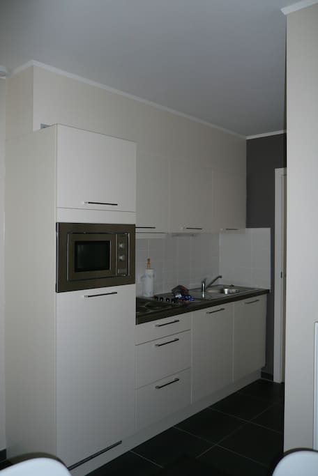 Fully equiped kitchen with grill-microwave and fridge/freezer