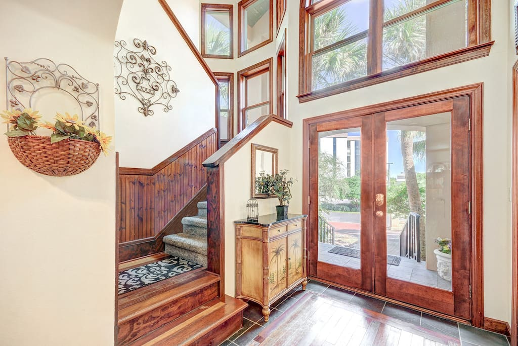 Entryway shows off this beautiful home