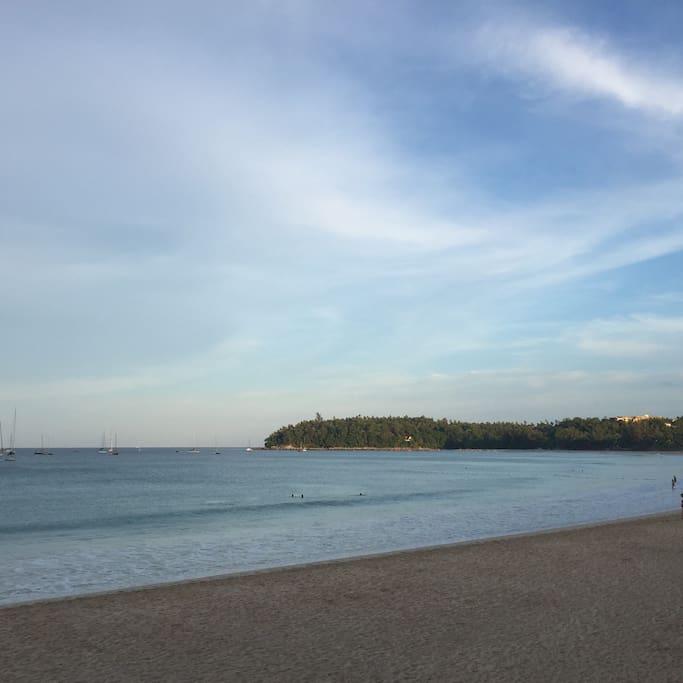 Kata Beach. Across street from here.