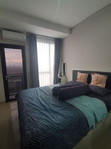 Apartment Tower Monroe lantai 9 with city view