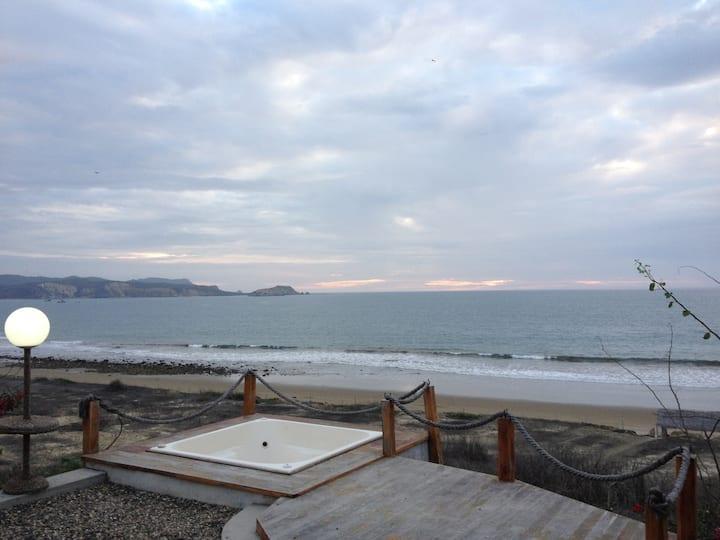 Private beach retreat.