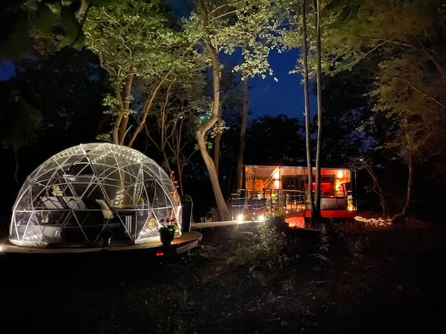 The Copper Cabin and Geodesic Dome
