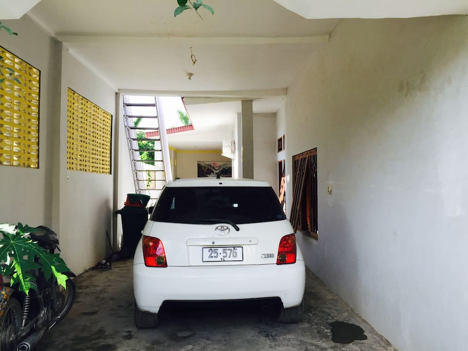 You can hire ou car to use around Dili for $20 perday