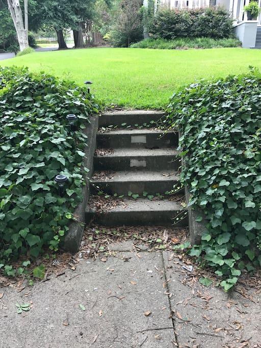 Steps from Side walk