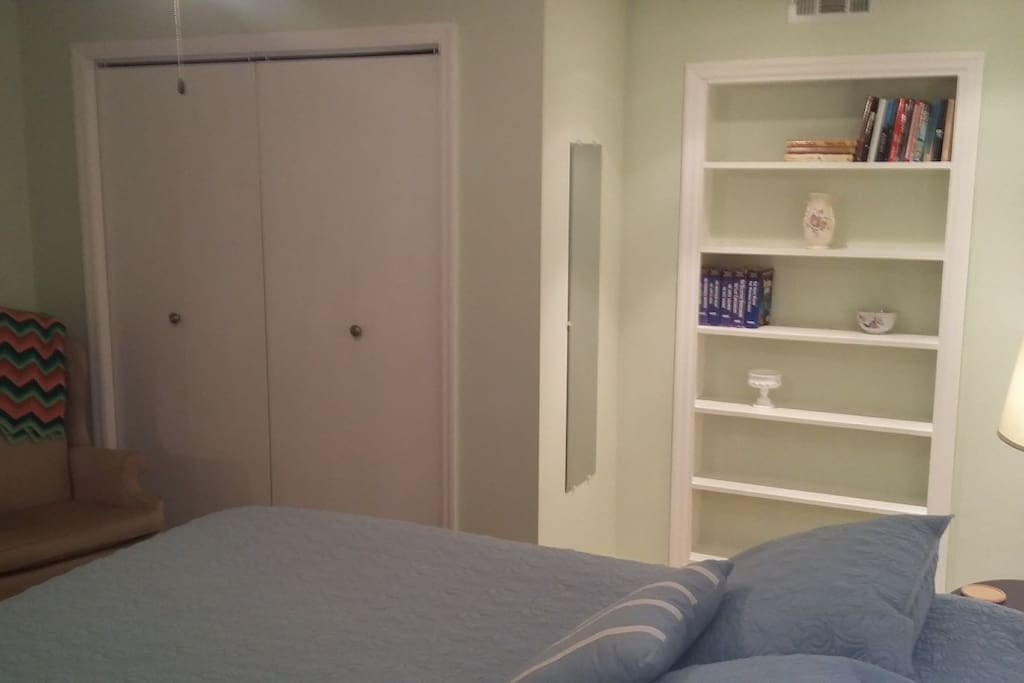 Closet with Roll-Away Bed Storage