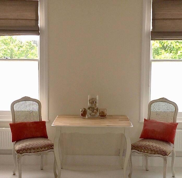 Open plan living room .